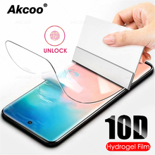 Akcoo Newest Note 10 Hydrogel film easy instal full glue for Samsung Galaxy S8 9 note 8 S10 Plus 5G screen protector soft