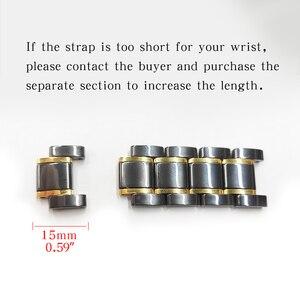 Image 5 - Bracelet watcn en céramique pour montre Apple 4 5 44mm 40mm Bracelet pour iwatch 3 2 38mm 42mm en céramique avec Bracelet en acier inoxydable Bracelet de montre