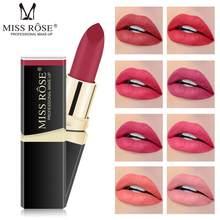 MISS ROSE – rouge à lèvres mat, imperméable, longue durée, Pigment velours, rouge, Sexy, cosmétique, soins, outils de maquillage, tendance, TSLM1