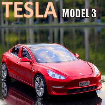 New 1:32 Tesla MODEL 3 Alloy Car Model Diecasts & Toy Vehicles Toy Cars Free Shipping Kid Toys For Children Gifts Boy Toy