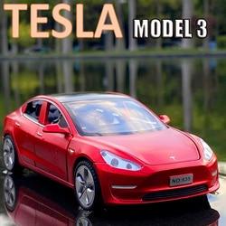 Nouveau modèle de voiture Tesla 3 1:32 en alliage, véhicules moulés et jouets, livraison gratuite, jouets pour enfants, cadeau, jouet pour garçon