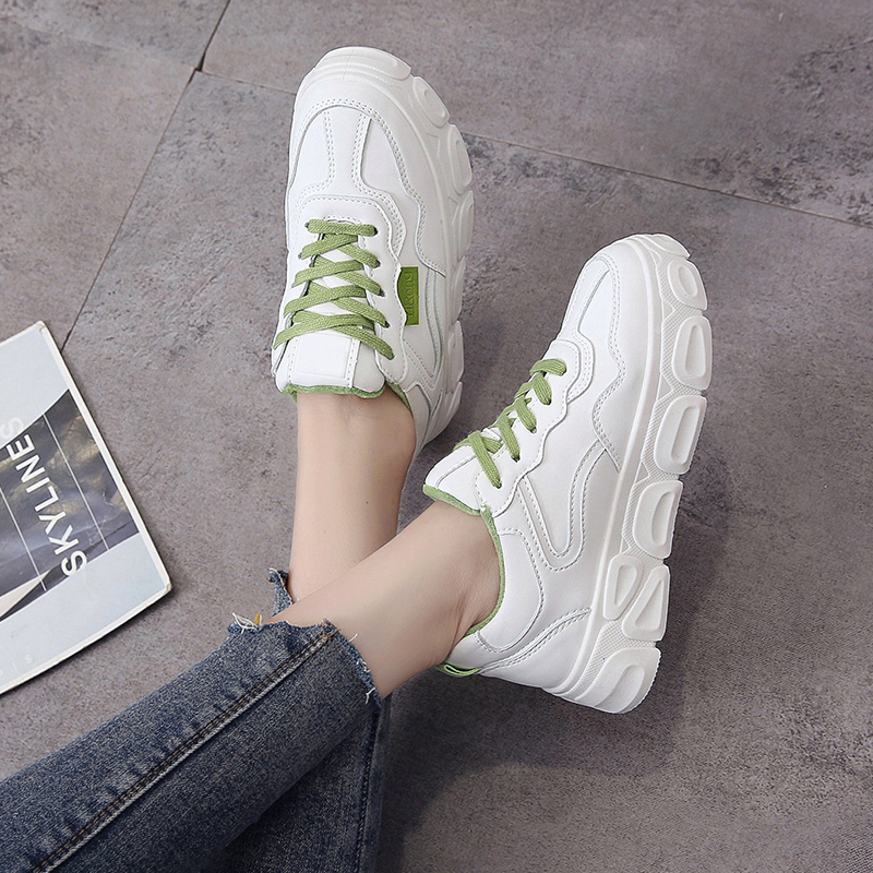 New Fashion Winter Chunky Shoes Plus Velvet Warm Casual Shoes Lace-up Shoes Ladies Sneakers Outdoor Walking Shoes U13-59