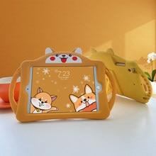 2020 estojo para ipad 11 crianças polegada silicone macio criança adorável suporte tablet capa para ipad 6th 9.7 polegada 10.5mi