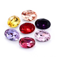 13X18mm Oval Rhinestones For Clothes Bags K9 Glass Strass Crystals Pointback Red Crystals Rhinestone Art Crafts Accessories gorgeous artificial crystals rhinestones oval necklace for women