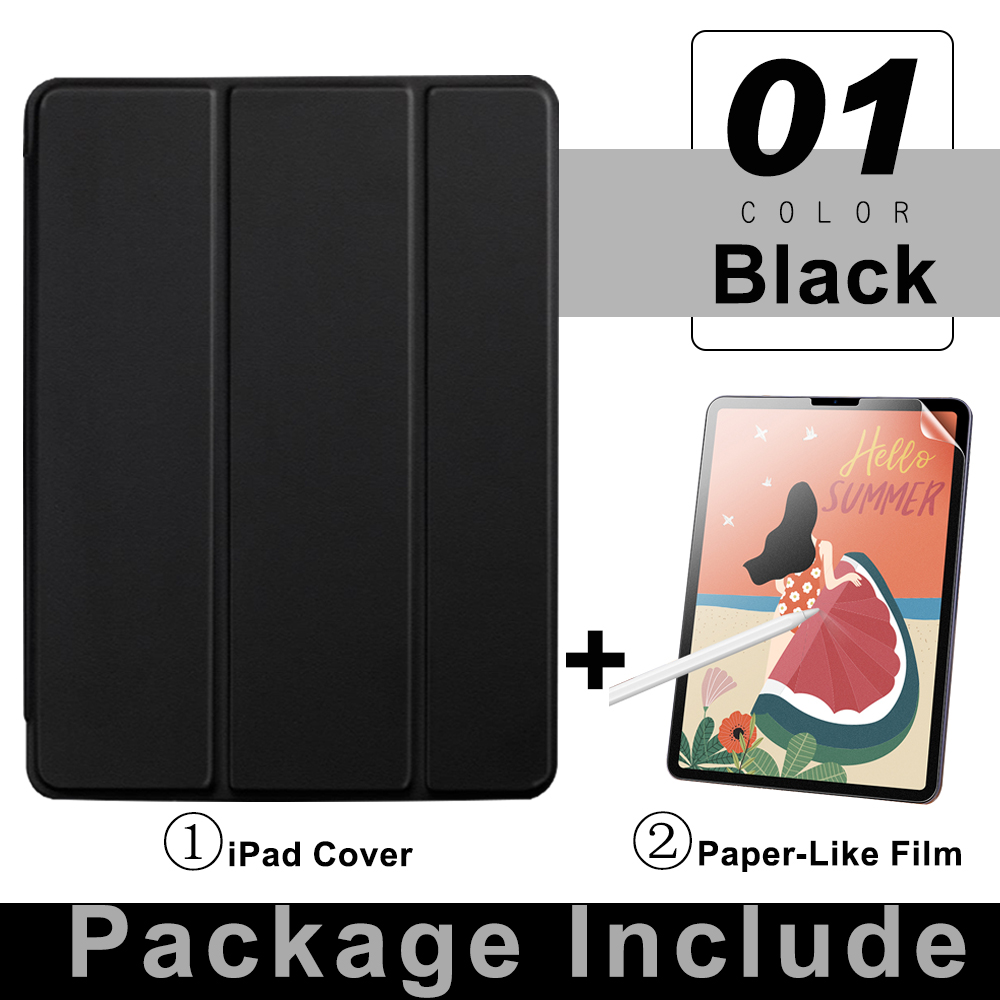 4 Black BLACK For iPad Pro 11 Flip Tablet Case 2021 Stand Smart Cover Funda For iPad pro 11