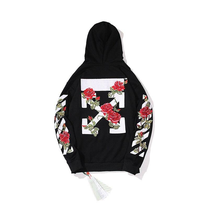 Цветочный кардиган на молнии с машинной вышивкой, худи для подростков в европейском и американском стиле, популярный модный бренд, лидер пр... - 2