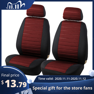 Image 1 - AUTOYOUTH Brand 2PCS Car Seat Covers 5MM Foam Airbag Compatible Universal Fit Most Vans Minibus Separated Car Seat