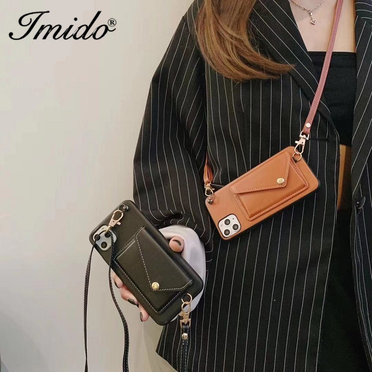 Wallet-style Mobile Phone Case Bag IPhone11pro Card Leather Messenger Rope Suitable For IPhone X XR XS Max Phone Case Handbag