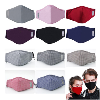 PM2.5 Mouth Mask Bacteria-proof Dust Proof Washable Reusable Cotton Masks Carbon Filter Unisex Multi Anti-pollution mouth mask