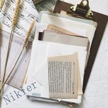 Paquet de papier Kraft Vintage, livre anglais écrit, vieux style rétro, Plaid/acide \ fabrication de cartes de bricolage, 56 feuilles