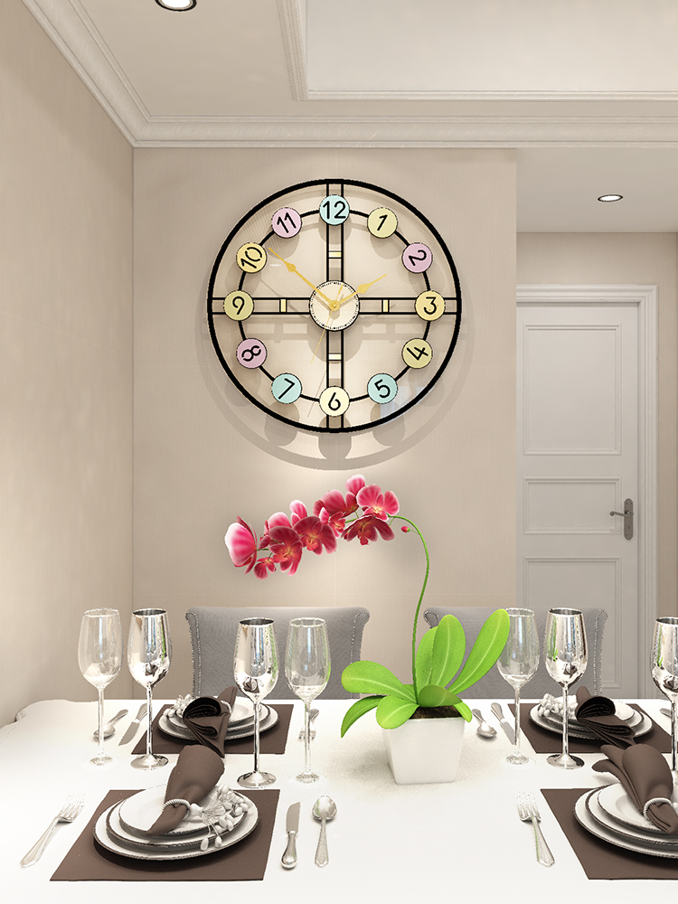 Creative MEISD Embossment Color Printing Silent Wall Clocks Antique Large Clock Modern Design Quartz Hanging Watch