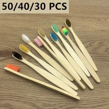 50 Pack Natural Bamboo Toothbrush Wood Toothbrushes Soft Bristles cepillo dientes bambu Teeth brush Eco-Friendly Oral Tooth Care
