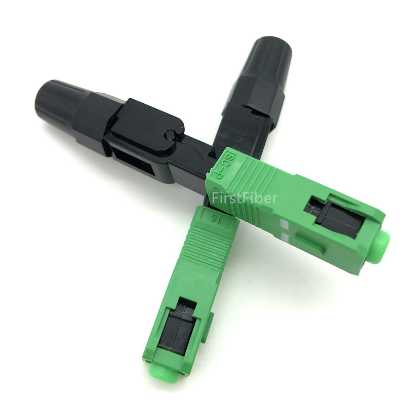 Image 2 - SC APC Fast Connector Embedded SC adapter 100pcs FTTH SC APC 