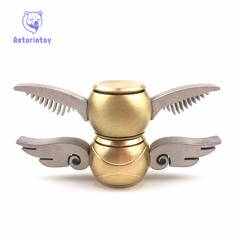 1PCS Fidget Spinner Hand Spinner Potter Fans New Fidget Toy EDC ADHD Anti-Stress Copper New Designs Decompression Toy