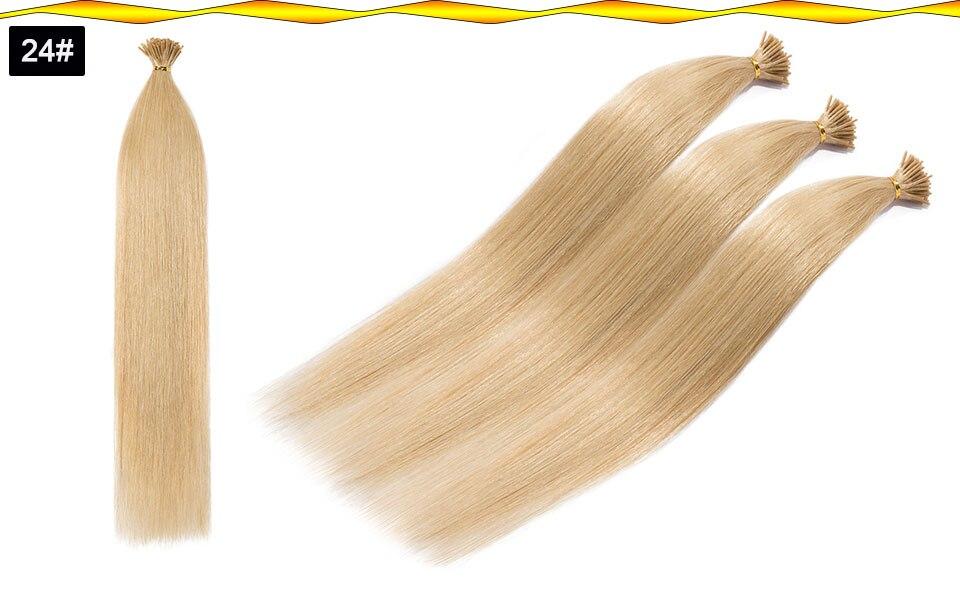 i ponta 100% real cabelo humano vara