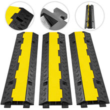 Protectors-Supports Cable-Tie-Protection Cable-Base Rubber 11000 Lb 3x2-Channels PVC