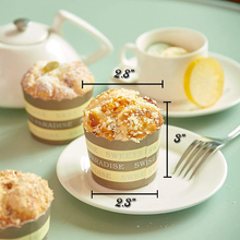 6pcs Simulation Cupcake Artificial Food Cake Mixed Fake Model Kitchen Toy Decoration High quality