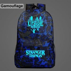 Image 5 - Luminous Stranger Things Bicycle Demogorgon Galaxy Lightning Children School bag Teenagers Student Schoolbags Women Men Backpack
