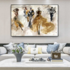 Abstract Oil Painting with Dancing People Printed on Canvas 1