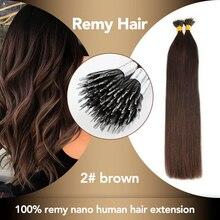 Sobeauty, человеческие накладные волосы с нано-наконечниками, волосы remy, 20 дюймов, прямые коричневые волосы для наращивания, волосы для наращивания с микро-бусинами, капсулы