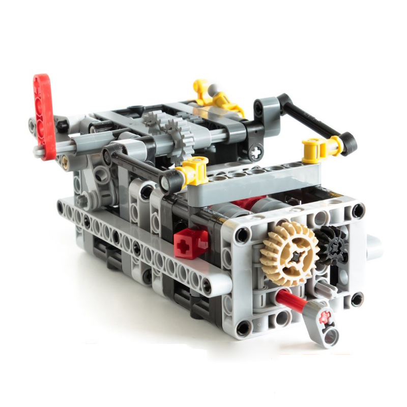 NEW MOC 8 Speed Sequential Gearbox V3 Educational Building Blocks Bricks Parts DIY Toys Compatible With Legoes Technic MOC 6829