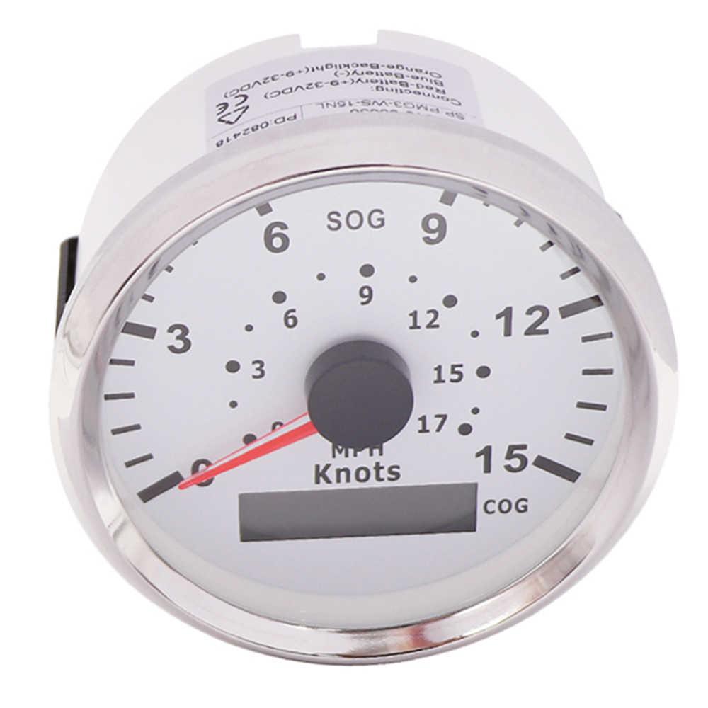 85mm Universal Speed Gauge GPS Speedometer Odometer for Car truck Boat Motor Yamaha Backlight 15knots 17MPH 12V 24V