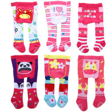 12psc/lot Super Cute 1-3M Girl Boy Pure Cotton Sweat Absorbing Pantyhose Anti-skidding Infant Stocking 12 Colours Available