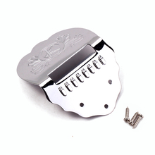 Mandolin Chrome Tailpiece With 3pc Screws FOR Mandolin Replacement