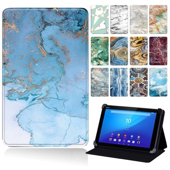 Leather Tablet Case for Sony Xperia Z3 Tablet Compact 8.0 /Xperia Z4 Tablet 10.1 Drop Resistance Protective Shell Cover+Stylus image