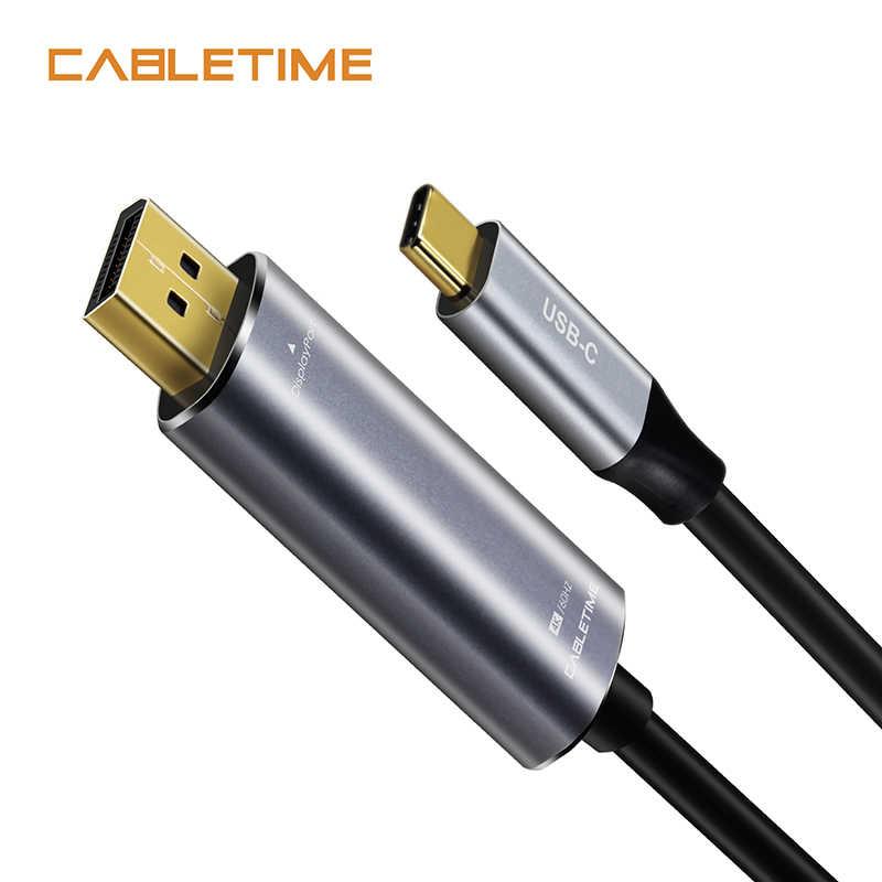 كابل USB C إلى ديسبلايبورت 4K 60Hz Type C USB 3.1 Thunderbolt 3 إلى DP 1.3 محول USB إلى DP UHD فيديو خارجي N101