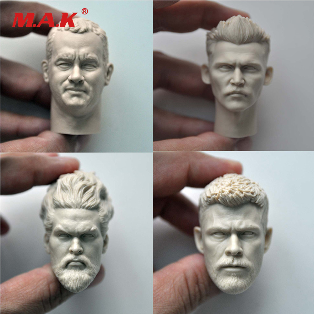 1//6 Sca Male Creg 2.0 Clown shut up white mold Head carving Sculpture DIY Model