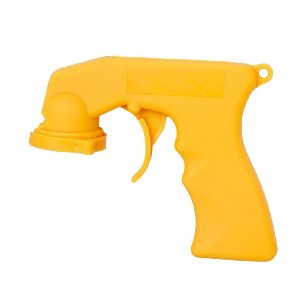 Plastic Spray Adaptor Paint Care Aerosol Spray Gun Handle With Full Grip Trigger Locking Collar Car Maintenance