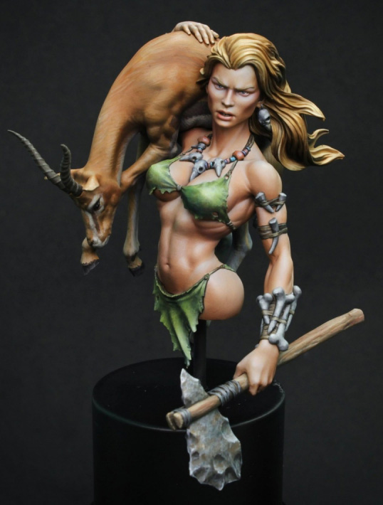 1/10 Anicent Warrior With Animal Bust (NO BASE )    Resin Figure Model Kits Miniature Gk Unassembly Unpainted