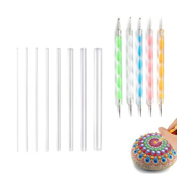 13PCS Mandala Dotting Tools Set Pen Stencil Ball Stylus Paint Tray for Painting Rocks, Coloring, Drawing