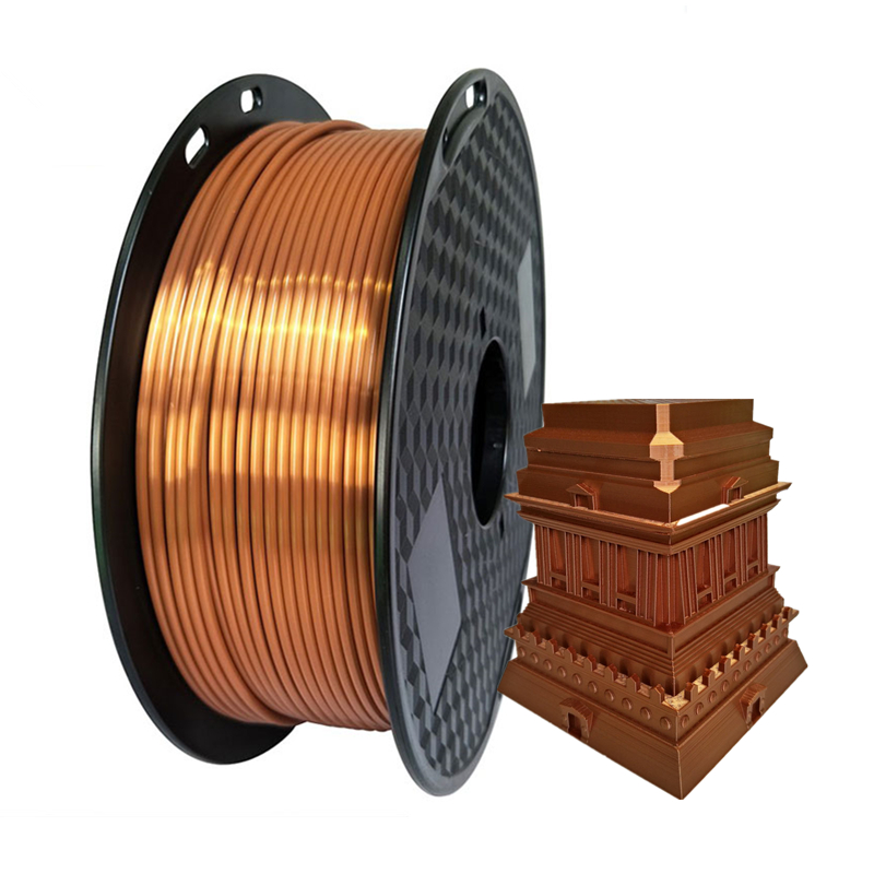 Silk PLA Copper 1.75mm 3D Printer Filament Luxury Silky Rich Luster 250g/500g/1kg Shiny 3D Pen Printing Materials Consumables