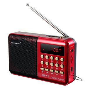 Image 2 - Mini Tenuto In Mano Portatile K11 Radio Multifunzionale Ricaricabile Digitale FM USB TF Lettore MP3 Altoparlante Dispositivi Forniture