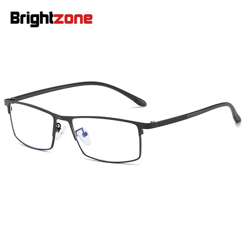 Anti-Blue Light Full Men Titanium Alloy Eyeglasses Optical Frames For Men Eyewear Flexible TR90 Temples Legs IP Alloy Spectacles