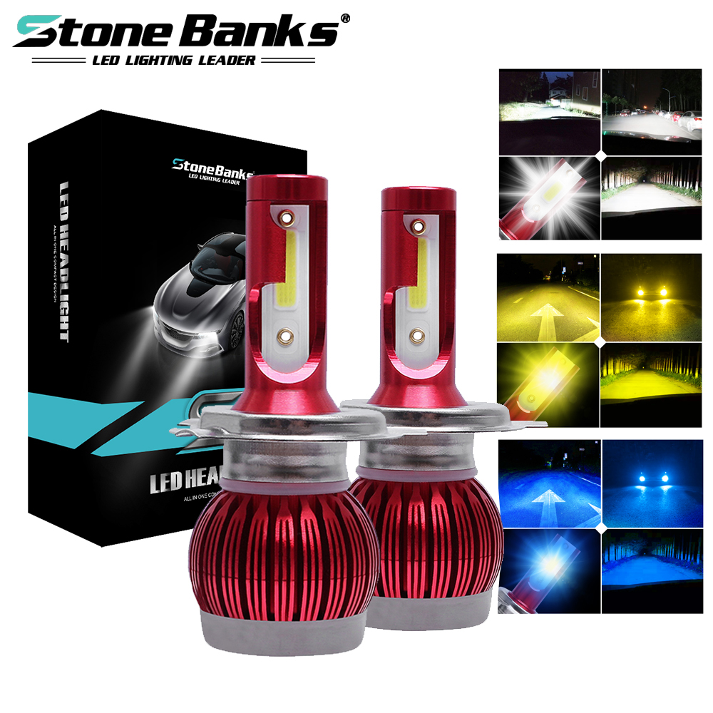 Stone Banks Car <font><b>LED</b></font> Headlight H1 <font><b>H3</b></font> H7 H8 H11 H16 9005 HB3 9006 HB4 9012 HIR2 H4 9004 9007 HB5 H13 Auto Head Lamp <font><b>Bulb</b></font> Fog Light image