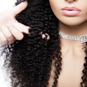 Image 2 - 13x4 תחרה מול פאה מראש קטף רמי מתולתל M ברזילאי שיער אמיתי עלית שיער טבעי לנשים שחורות פרונטאלית קוקו נשים של פאה