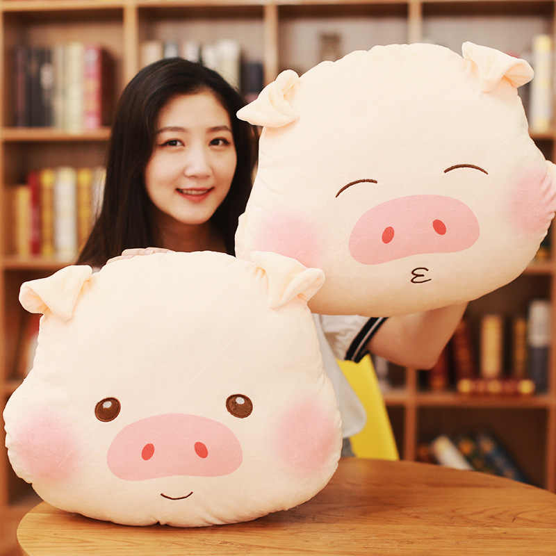 Schwein nickerchen kissen plüsch hand wärmer quilt dual zweck 3 in 1 büro mittagspause klimaanlage decke