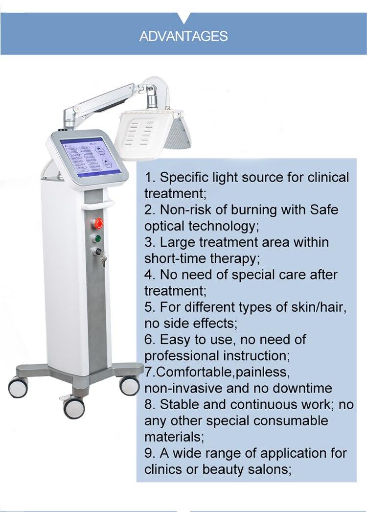 led rejuvenescimento da pele tratamento acne pdt