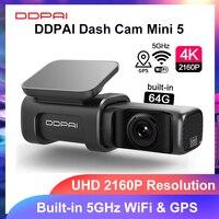DDPAI Dash Cam Mini 5 UHD DVR Android Car Camera 4K Wifi integrato GPS 24H parcheggio 2160P Auto Drive veicolo Video Recroder Mini5