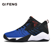 Basketball Shoes Men Sneakers Summer Breatheable Mesh Basket Shoes High Top Sports Shoes Retro Trainers Women Basketball Shoes cheap QIFENG Medium(B M) Medium cut Rubber Cotton Fabric hb9109 ForMotion Lace-Up Spring2019 Fits true to size take your normal size