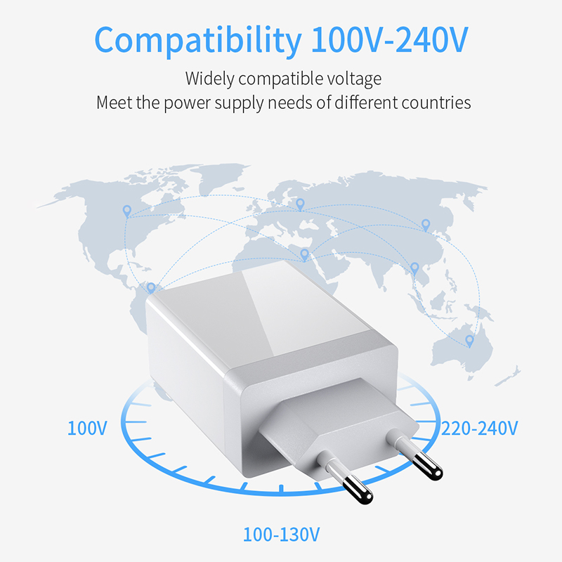 lowest price 3 0 USB Charger Max Fast Charge Double Plug Wall Quick Charge for Samsung Xiaomi Huawei iPhone 3 Ports Adapter PD QC Charger