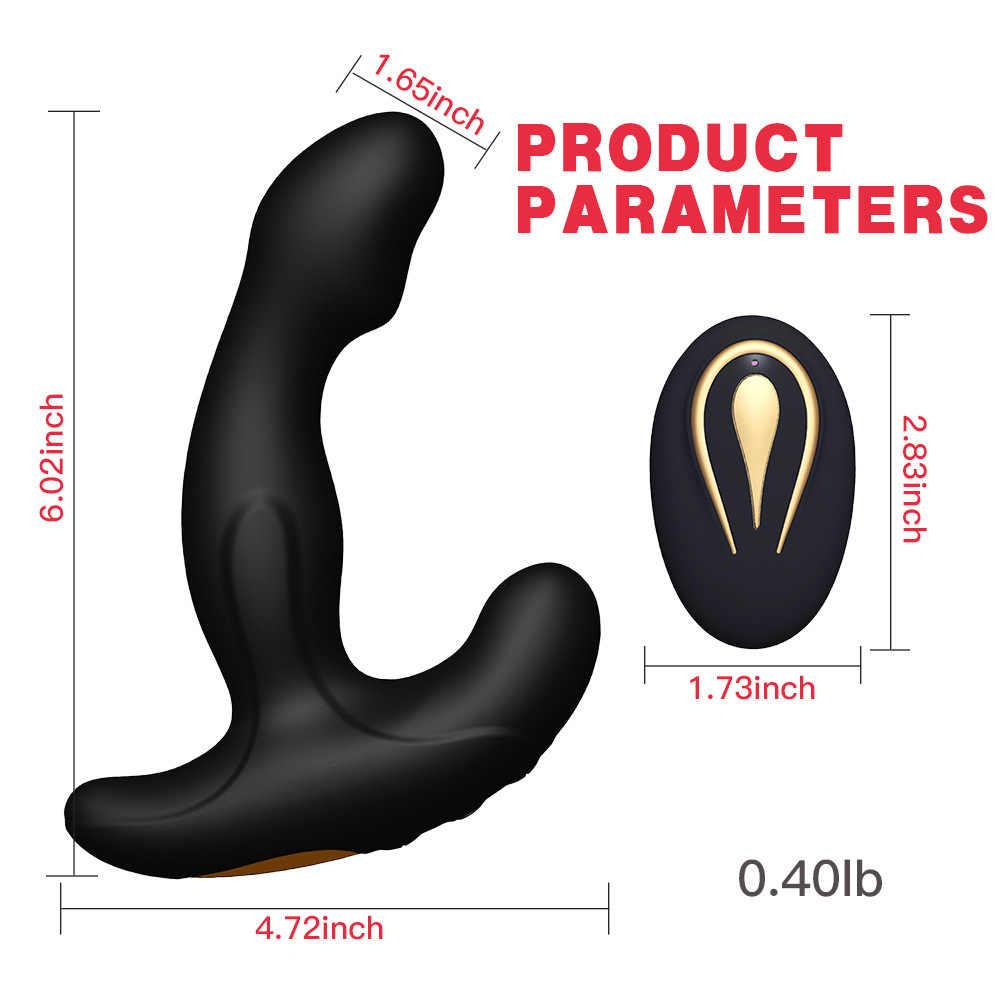 G-spot controle remoto sem fio vibração silicone anal sexo brinquedos para homem gay butt plug prostata massageador vibratório para homem