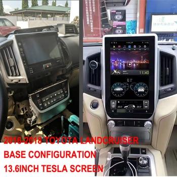 "13.6"" Tesla Screen Navigation For TOYOTA LandCruiser 2016 2017 2018 Android 8.1 Car radio GPS bluetooth Multimedia Head Unit"