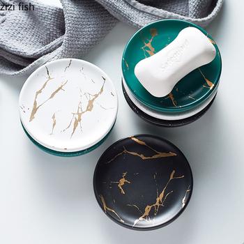 Ceramiczne do łazienki mydelniczka kreatywne mydło ceramiczna mydelniczka hotelowa mydelniczka tanie i dobre opinie