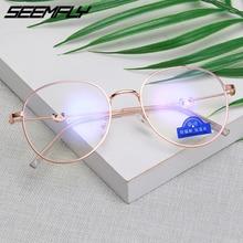 купить Seemfly Glasses Frame Women Men Anti Blue Light Panda Eyeglasses Frames Retro Black Gold Silver Spectacle Plain Mirror Eyewear дешево