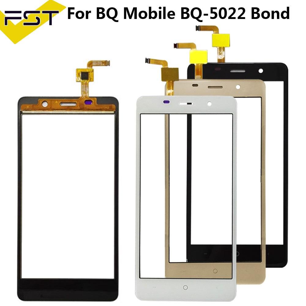 For BQ Mobile BQ-5022 Bond BQ S 5022 BQS 5022 Bond Sensor Touch Screen Digitizer Repair Parts Touchscreen Front Glass Lens+Tool