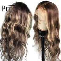 13*6 tiefe Teil Spitze Front Menschliches Haar Perücke Lose Welle Highlight Farbe Pre Gezupft Haar Linie Gebleichte Knoten brasilianische Remy Haar